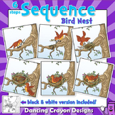Sequence Cards and Clip Art- Bird Building a Bird's Nest