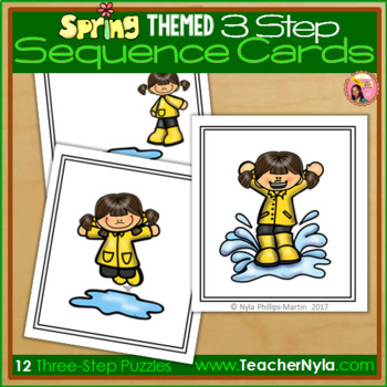 Sequence Cards - Spring Themed