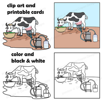 Sequence Cards and Clip Art - Milk Process