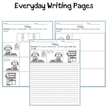 Speak then Write Everyday Sequencing 1