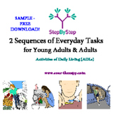 FREE SAMPLE! Sequence Cards for Adults - Activities of Daily Living (ADL)