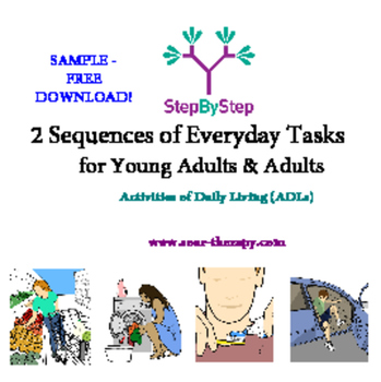 Free Sample Sequence Cards For Adults  Activities Of Daily
