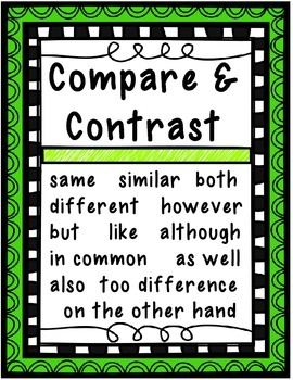 Sequence, Cause & Effect, and Compare & Contrast Posters!