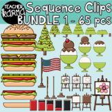 Sequence Clipart BUNDLE 1, BRIGHT & SHINY Version, Sequencing