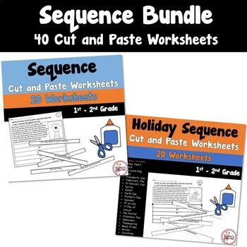Sequence Cut and Paste Worksheets Bundled