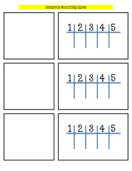 Sequence Equation and Table Matching Game