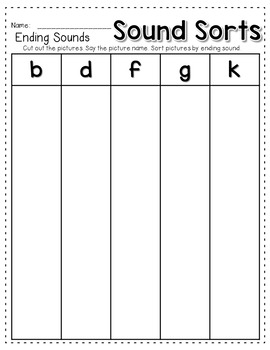 Sequence Game and Sorts for ending sounds
