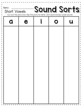 Sequence Game and Sorts VOWELS