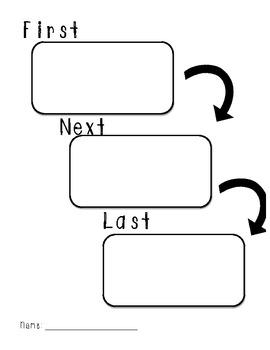 Sequence Graphic Organizer (First, Next, Last)