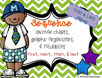 Sequence Graphic Organizers with Anchor Chart Poster/Sign & Foldables