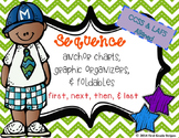 Sequence Graphic Organizers with Anchor Chart Poster/Sign