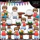 Sequence Kids Clip Art & B&W Bundle 1 (4 Sets)
