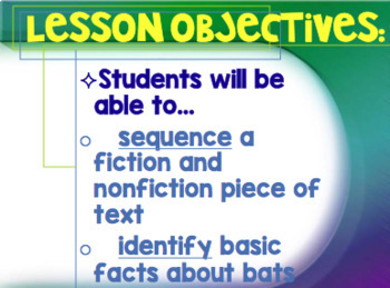 Bat Loves the Night Sequence Lesson PowerPoint