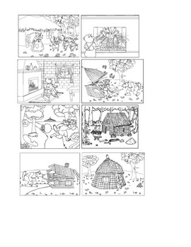Sequence of Events - The Three Little Pigs - Los Tres Cerditos - Spanish!