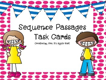 Sequence Passages Task Cards