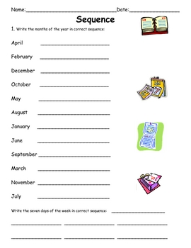 Sequence Practice For Elementary Students