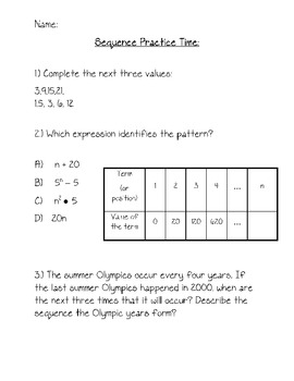 Sequence Problem Packet
