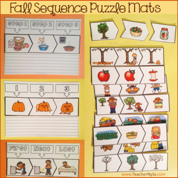 Sequence Puzzles and Mats - Fall Themed