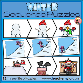 Sequence Puzzles and Mats - Winter Themed