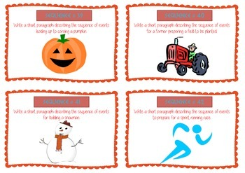 Sequence Reading Skill Picture Task Cards - Guided Reading