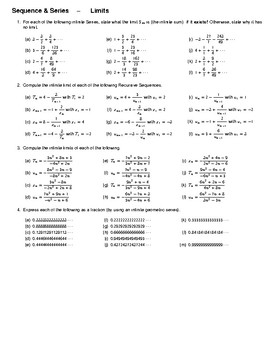 Sequence & Series – Limits