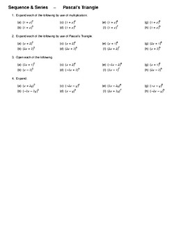Sequence & Series – Pascal's Triangle