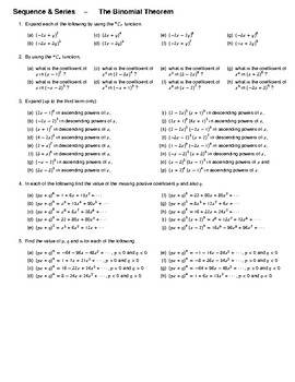 Sequence & Series – The Binomial Theorem