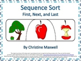 Sequence Sorting Puzzles:First, Next, and Last       Tell or Write The Story