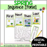 Sequence Spring Writing Prompts - Google Classroom™/Slides™ Distance Learning
