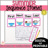 Sequence Summer Writing Prompts - Google Classroom™/Slides™ Distance Learning