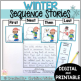 Sequence Winter Writing Prompts - Google Classroom™/Slides™ Distance Learning