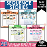 Sequence Writing | Story Retell and Sequencing Prompts Yearlong  BUNDLE