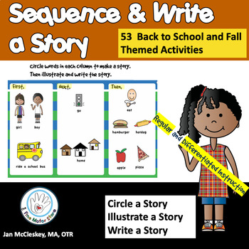 Sequence Story Writing And Drawing By The Fine Motor Store Tpt