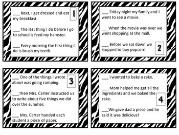 Sequence Activity Task Cards