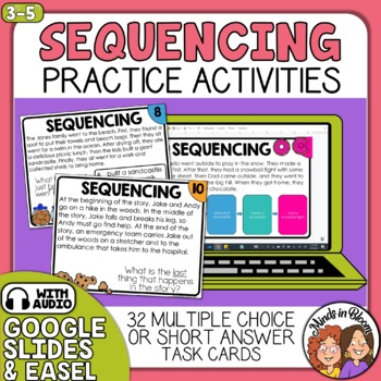Sequencing Task Cards  Sequence of Events with short passages