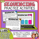 Sequencing Task Cards and Digital with TpT Easel Sequence
