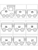 Sequence Teen Numbers - Transportation Theme