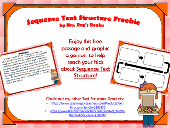 Sequence Text Structure Freebie