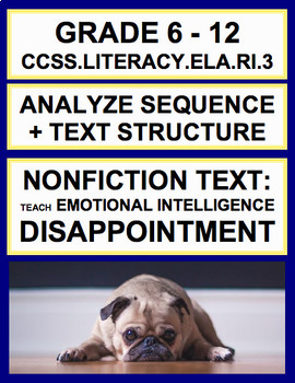 Sequence + Text Structure with SEL Nonfiction Article: Disappointment + Optimism