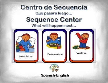 Spanish Sequence / Secuencia, What will happen next... Station/Center Activity