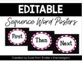 Sequence Word Posters (UPDATED and EDITABLE)
