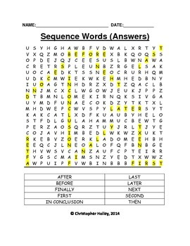 Sequence Words (Word Search)