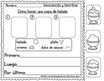 Sequence & Write: Spanish version