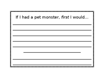 Sequence Writing: If I had a pet monster...