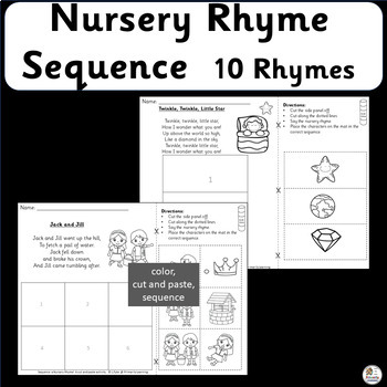 Sequence a Nursery Rhyme! A cut and paste activity. (SASSOON)
