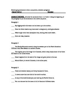 Sequence a Paragraph