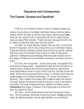 Sequence and Consequence: The Fastest, Slowest and Deadliest