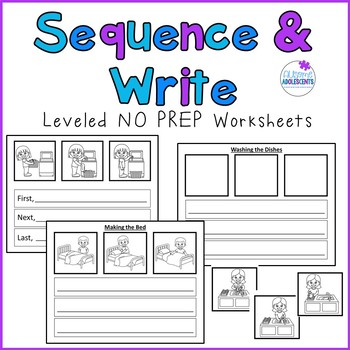 Sequence and Write- 3 Step Leveled Functional Sequencing