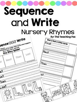 Sequence and Write GROWING SET {Nursery Rhymes}