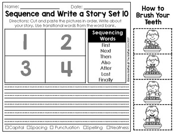 Sequence And Write How To Writing By The Moffatt Girls Tpt